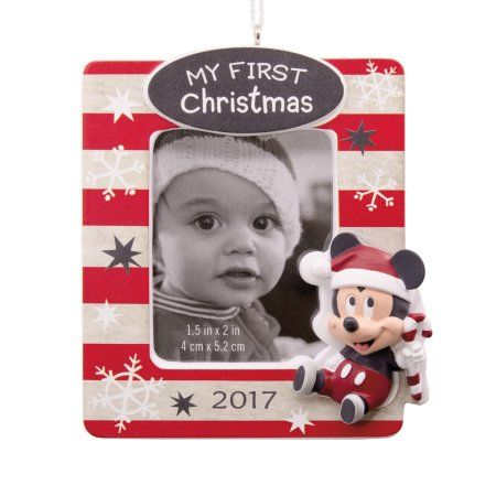 Hallmark Disney Mickey Mouse Baby S First Christmas 2017 Picture