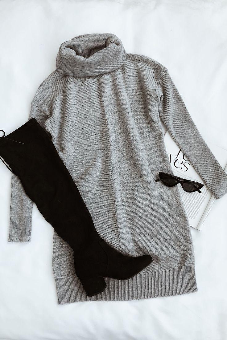 Lulus | Tee-Leser hellgrau Pullover Kleid | Kleine Größe - Spitze #teashops