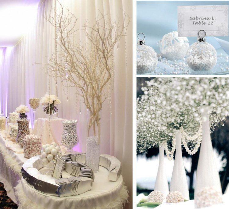 d co table mariage d 39 hiver 30 id es magnifiques et. Black Bedroom Furniture Sets. Home Design Ideas