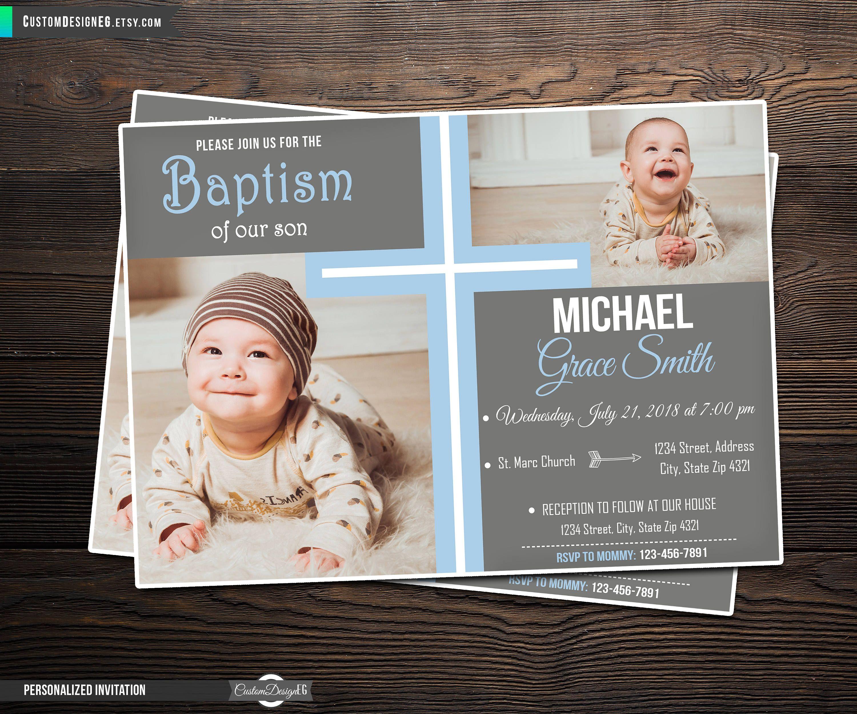 boy baptism invitations baptism