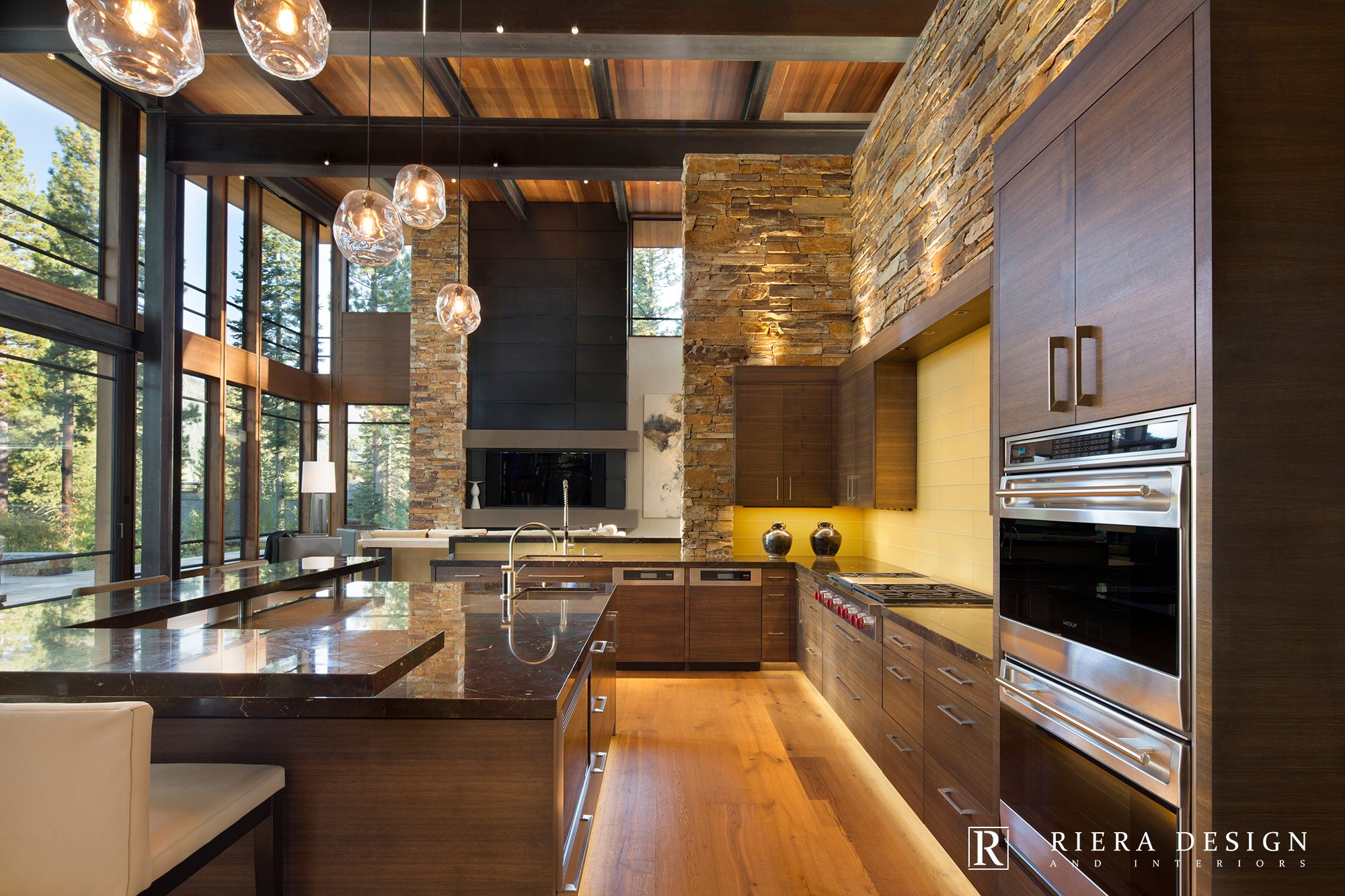 Lake tahoe martis camp mountain modern interior design - Decoraciones de casas modernas ...