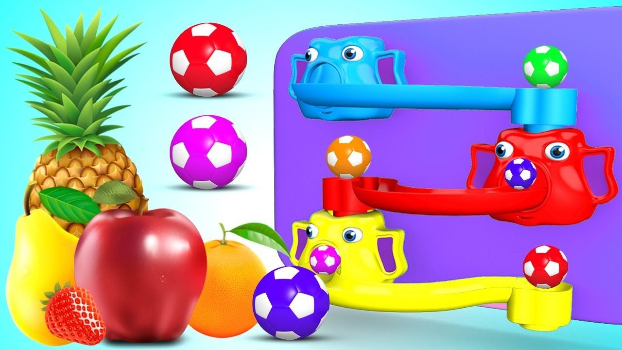Toys images with names  Learn Fruits Names for Children with SoccerBalls Slider Toys