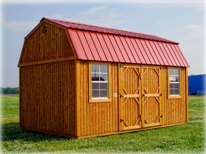 Available today in inventory 10 x 16 side lofted barn 2 for Small barn with loft