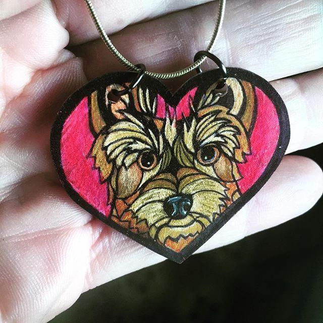 """Another sweet enchanted #dogart #shrinkydinks #handmadewithlove charm!"" Photo taken by @heartfullpets on Instagram, pinned via the InstaPin iOS App! http://www.instapinapp.com (07/22/2015)"