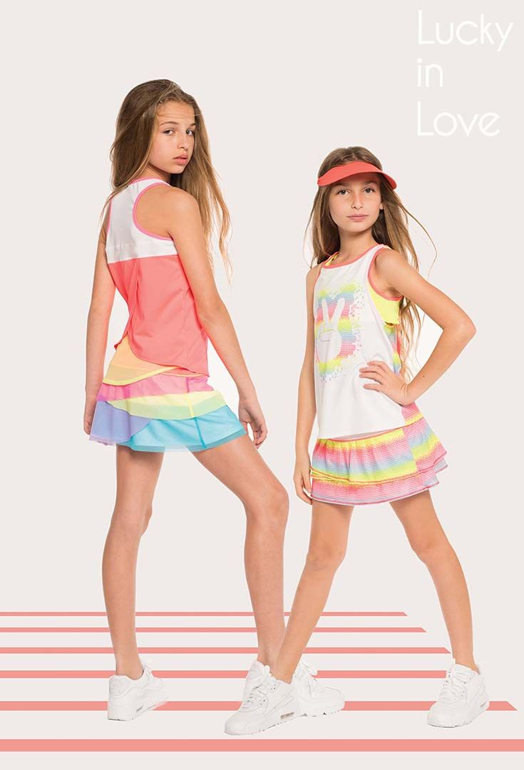 Shop Lucky In Love Girls Tennis Apparel At Midwestsports Com Tennis Clothes Girls In Love Apparel