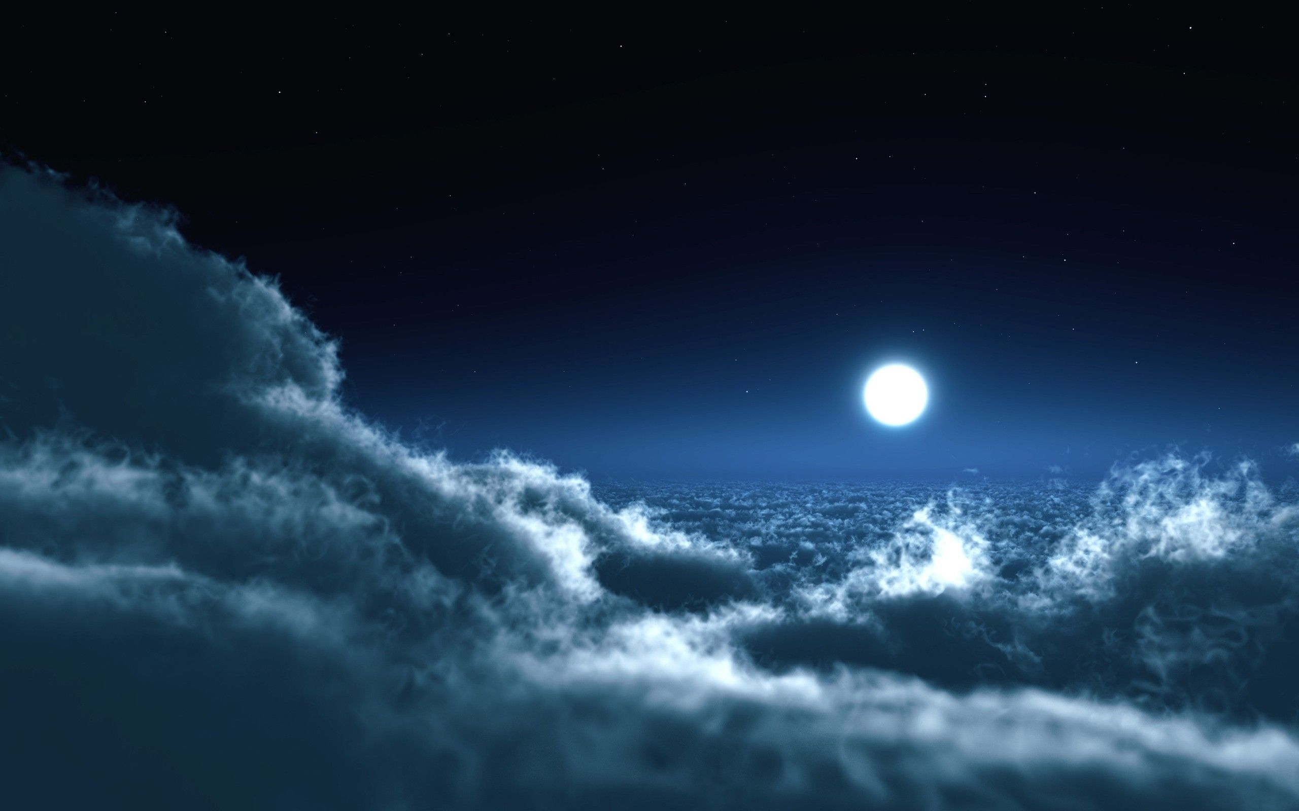 New Moon Wallpapers Hd Wallpapers Laptop Wallpapers Night Sky Wallpaper Clouds Night Clouds