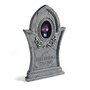 animated tombstone with talking skull140973 9900 - Talking Skull Halloween