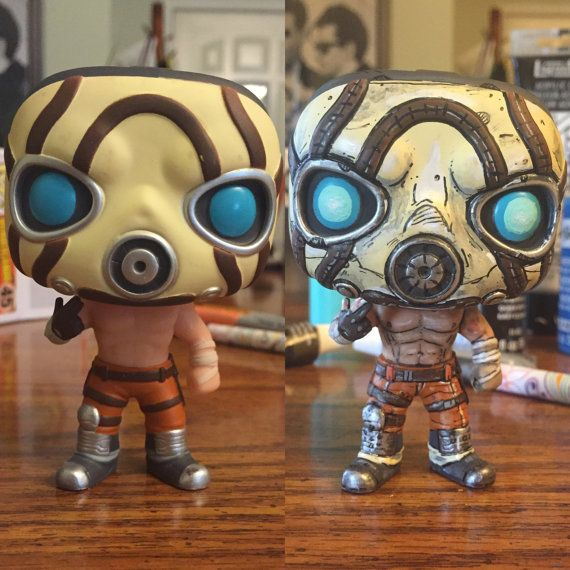Borderlands Psycho Funko Pop Vinyl REPAINT by Cybercute on