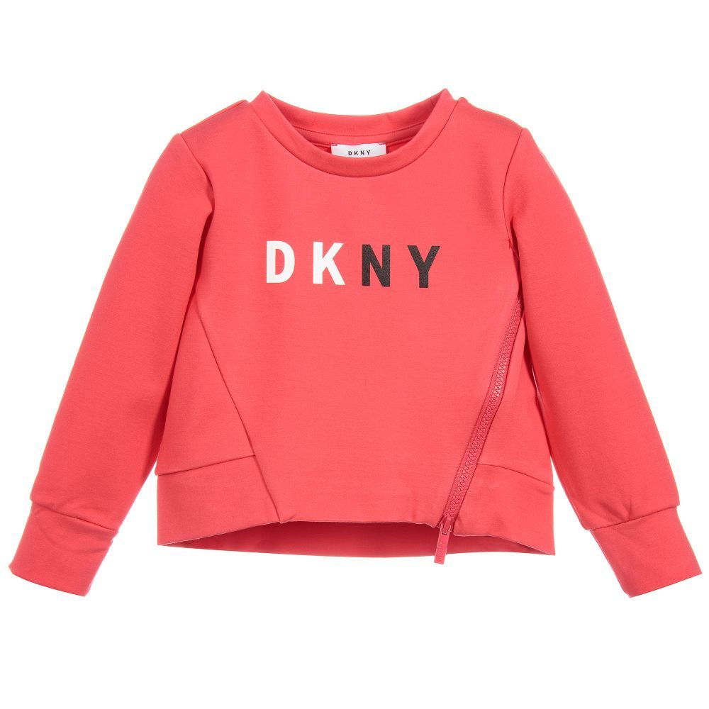 Kids Boys DKNY Logo Sweatshirt Crew Sweater Long Sleeve New