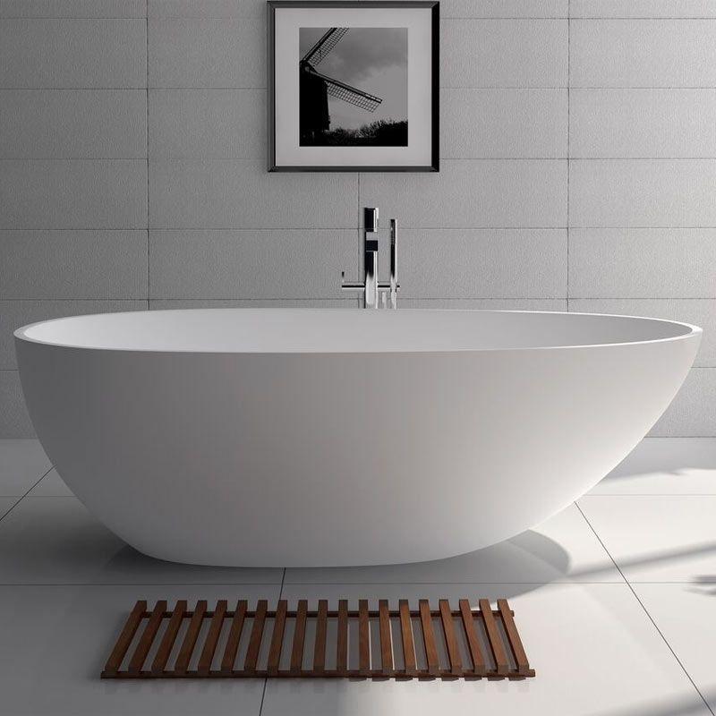 baignoire ilot ovale 170x86 cm mat riau composite mineral salle de bain pinterest ilot. Black Bedroom Furniture Sets. Home Design Ideas