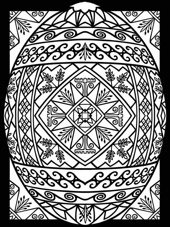 10 cool free printable Easter coloring
