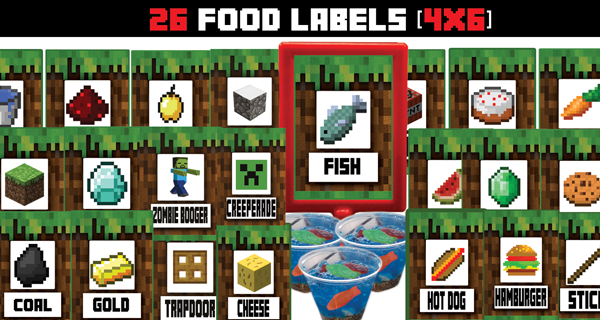 graphic about Minecraft Free Printable Food Labels named Appeared all higher than for printable food stuff labels for a Minecraft