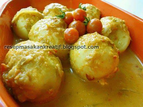 Resep Telur Bumbu Kari Telur Bumbu Resep Masakan Indonesia Makanan