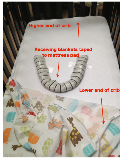 How to elevate crib mattress and keep baby from rolling everywhere