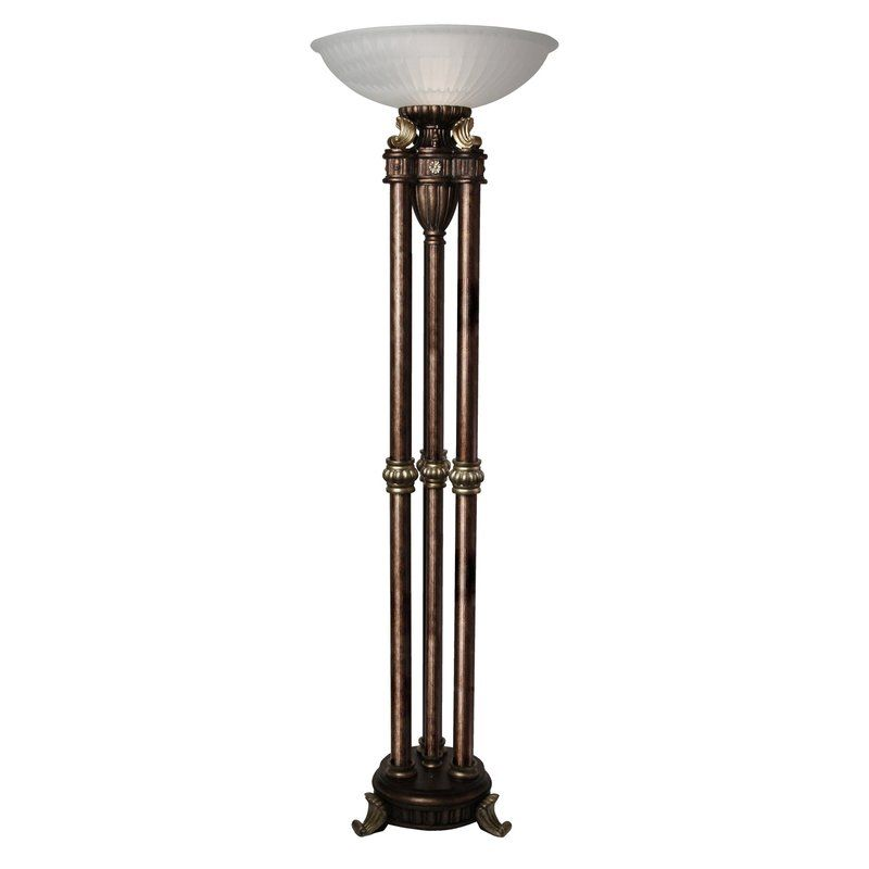 Astoria Grand Fowler 72 Torchiere Floor Lamp Wayfair Gold