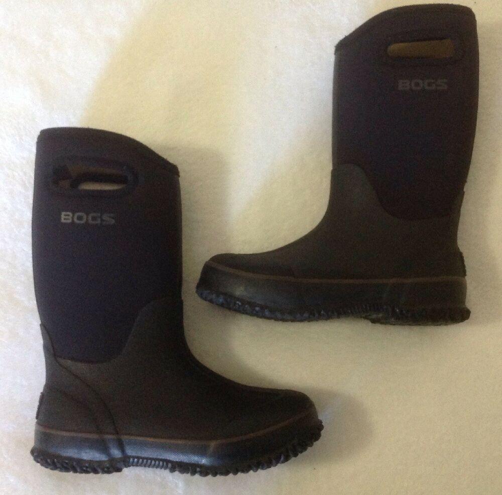 96713efbca13 Bogs Classic High Black Boots Youth Sz 2 Big Kids Winter -30 Waterproof  Handles  Bogs  Boots