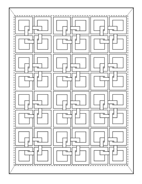 25 Coloring Pages Quilting Pattern Coloring Book Wall Art