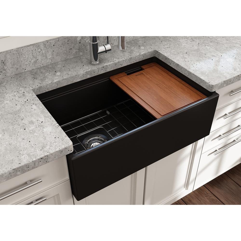 17++ Fireclay farmhouse sink with workstation info