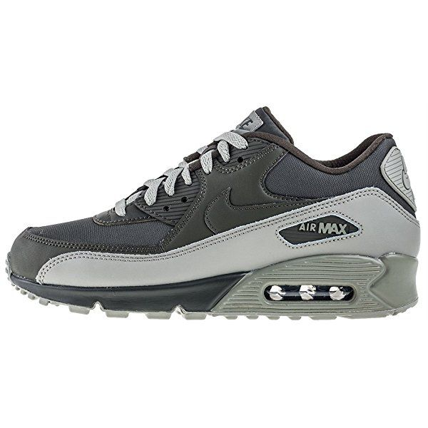 free shipping adc96 6f738 Amazon.com   NIKE Mens Air Max 90 Essential Running Shoes Anthracite White  Black 537384-089 Size 8   Running