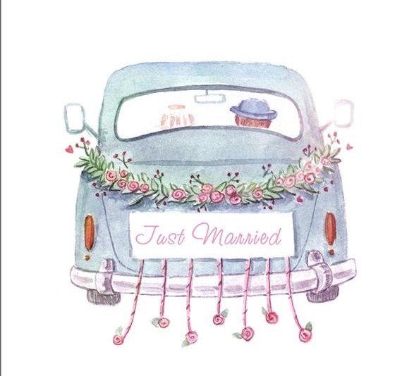 Hochzeitsauto Malvorlage