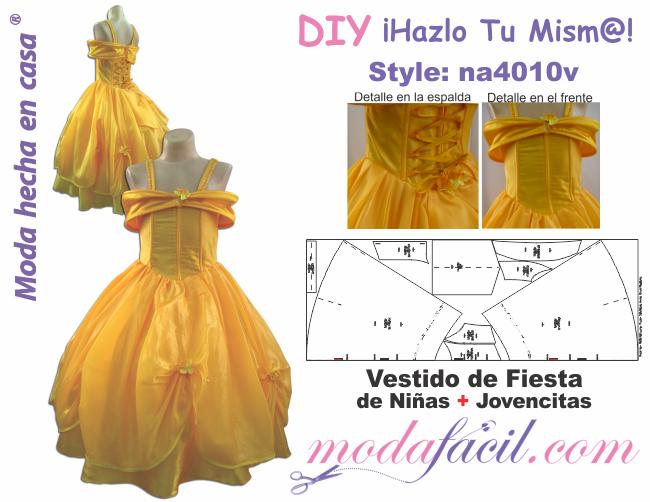 Moldes De Vestidos De Fiesta Para Niñas Y Jovencitas