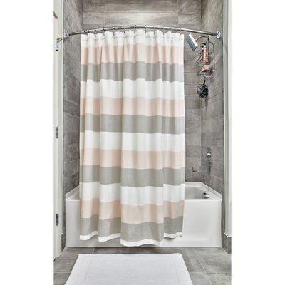 Breakwater Bay Ridgway Wide Multi Stripe Single Shower Curtain