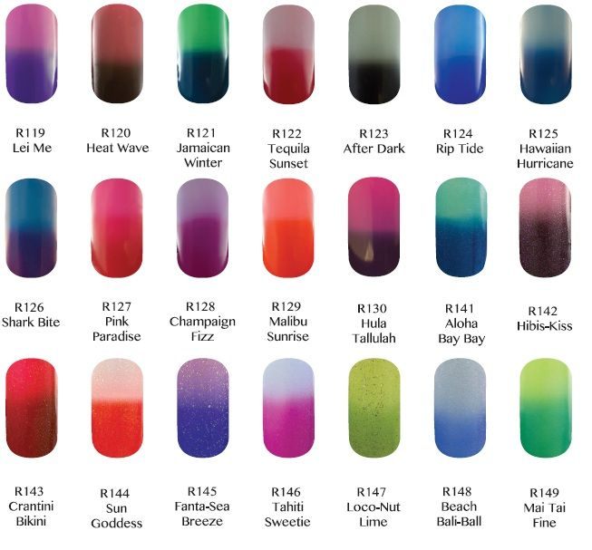 Gel ii Reaction Remix Ombre nails- Color changes with temperature ...