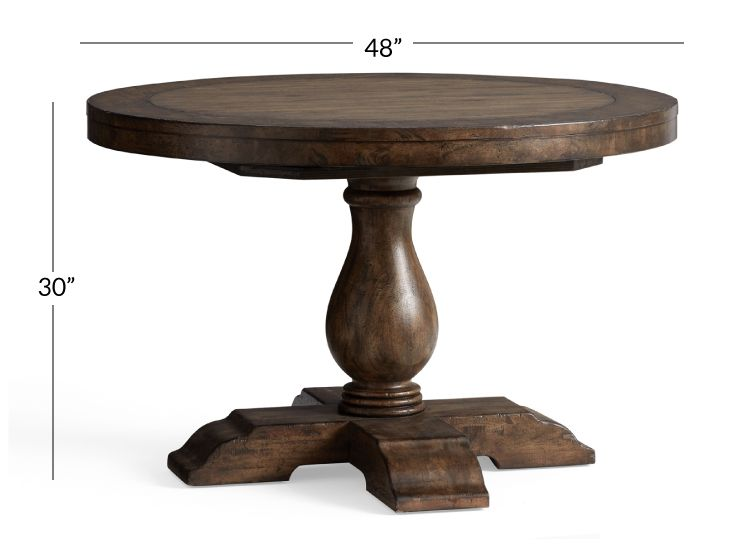 Lorraine Round Pedestal Extending Dining Table Hewn Oak In 2020