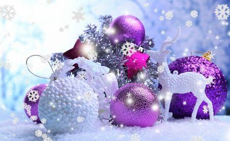 Purple Balls For Decoration Christmas Decorations  Photography Wallpaper Id 1891269  Desktop
