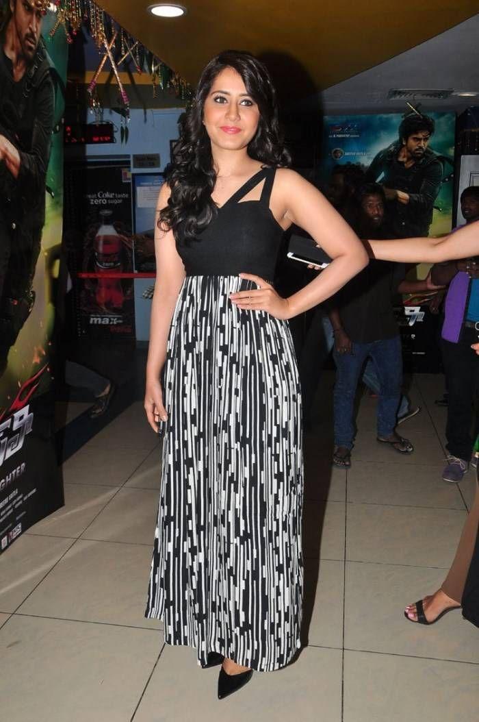Rashi Khanna Cute Pics In Black Dress Raashi Khanna Super Star