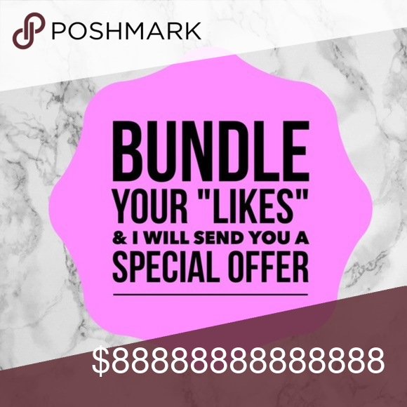 Add any like to 'BUNDLE' get my personal offer!! A