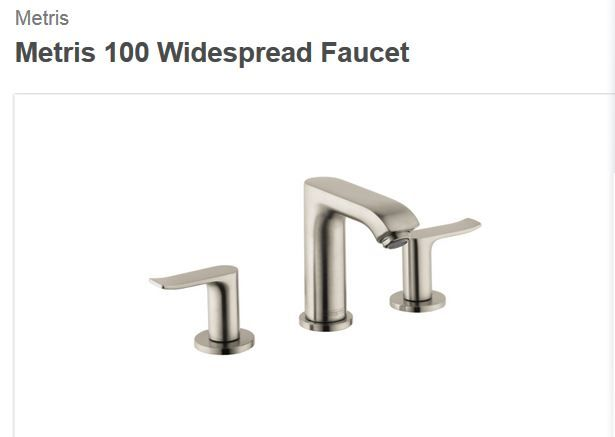 Metris 100 Widespread Faucet By Hansgrohe Shady Oaks Selections