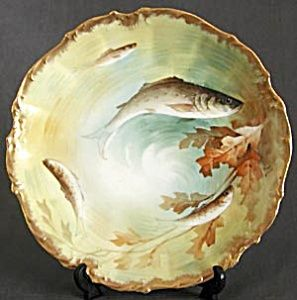 Vintage Limoges Hand Painted \u0026 Signed Fish Plate (Hand Painted Decorative Plates Animals \u0026 People) at Silversnow Antiques and More & Vintage Limoges Hand Painted \u0026 Signed Fish Plate | Decorative Plates ...