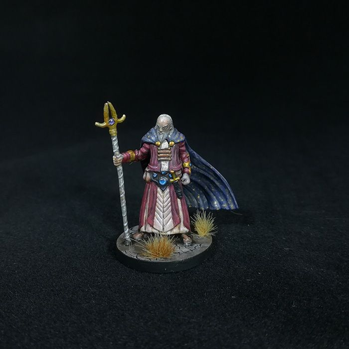 Old Human Wizard, D&D miniature | D&D Miniatures Painting