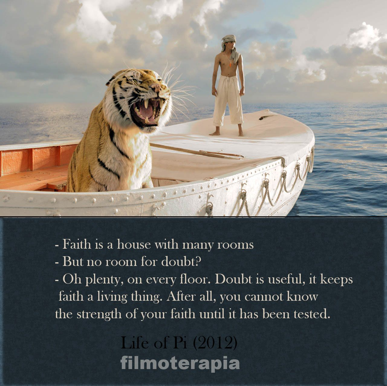 life of pi n illustrator takes on a modern classic three life of pi no quote has ever summed up my feelings toward god and religion more faith is a house many rooms