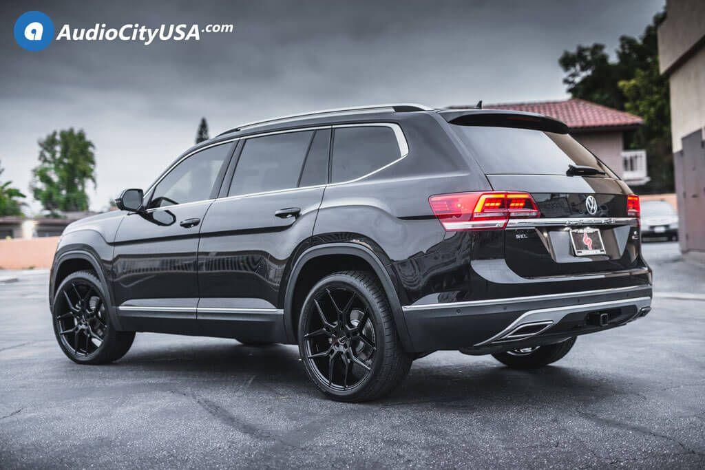 Image Result For Custom Vw Atlas Touareg Vw Volkswagen Black Rims