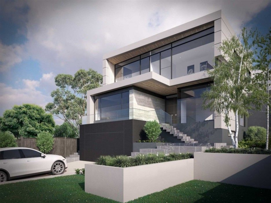 The Aesthetic Beauty Of Modern Concrete Home Plans Simple Concrete ...