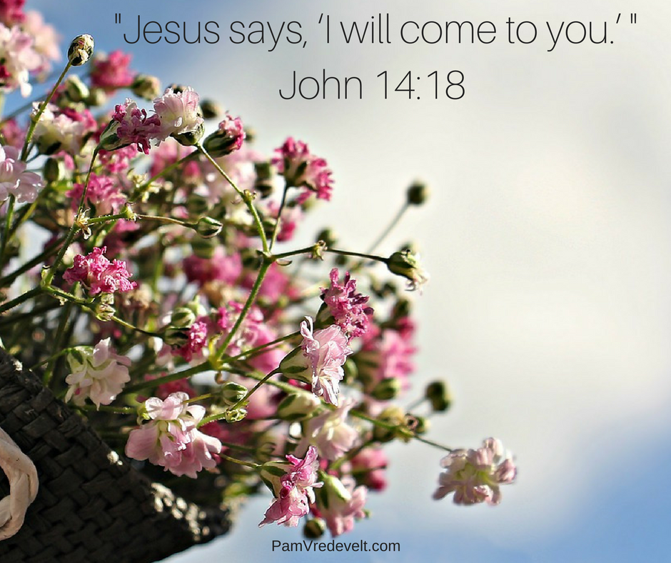 "Jesus says, ""I will come to you.""  John 14:18"