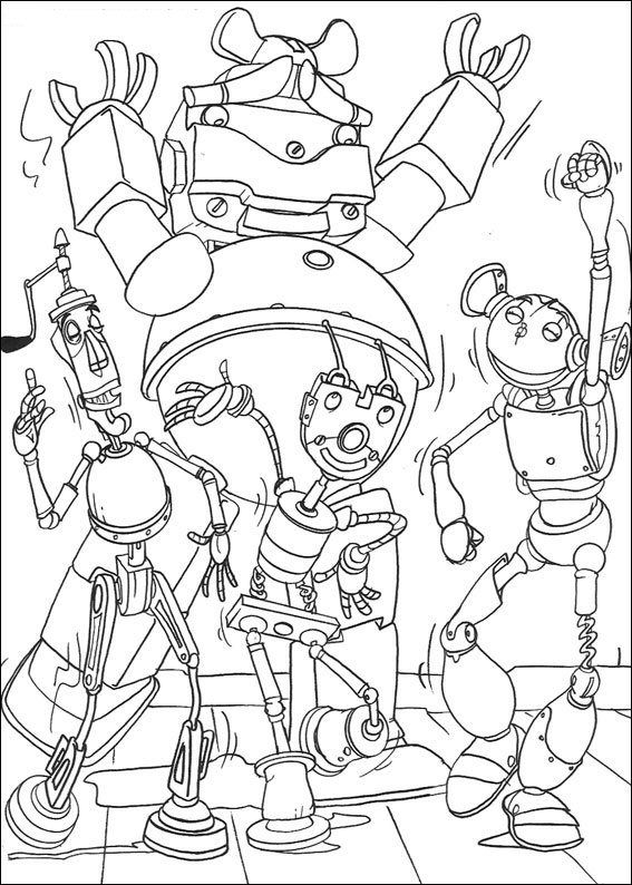 Coloring Page Robots Robots Coloring Pages Disney Coloring Sheets Cartoon Coloring Pages