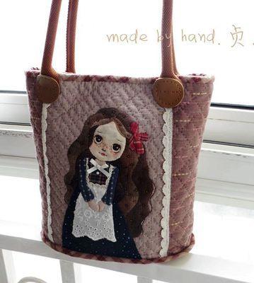 三贞木原创 先染贴布 手工包 背包,提包-淘宝网