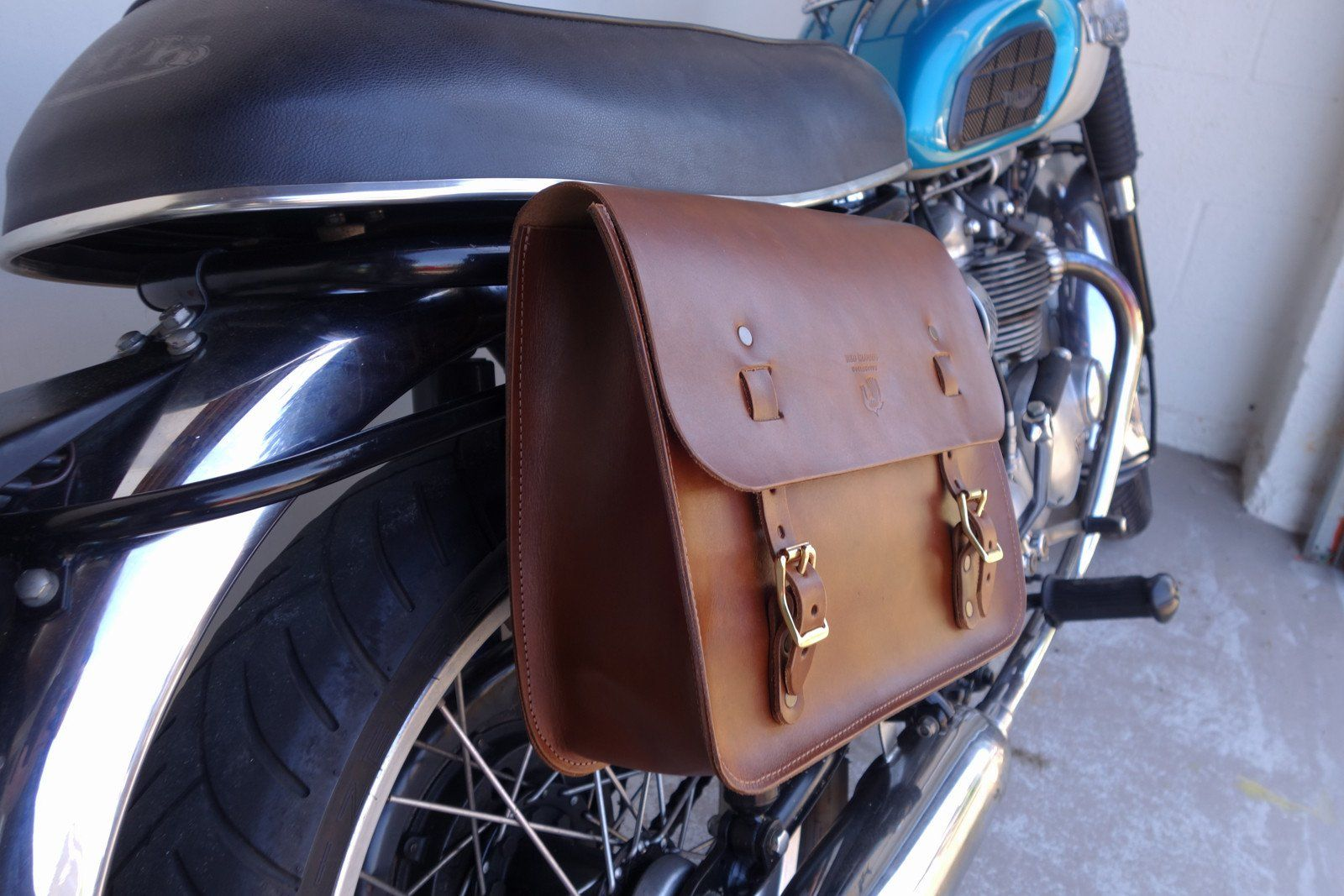 Tool bag leather heavy duty  zipper USA Made pouch motorcycle auto