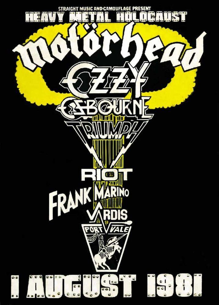 MOTORHEAD  Portvale Football Stadium,Heavy Metal Holocaust,8-1-81 concert poster