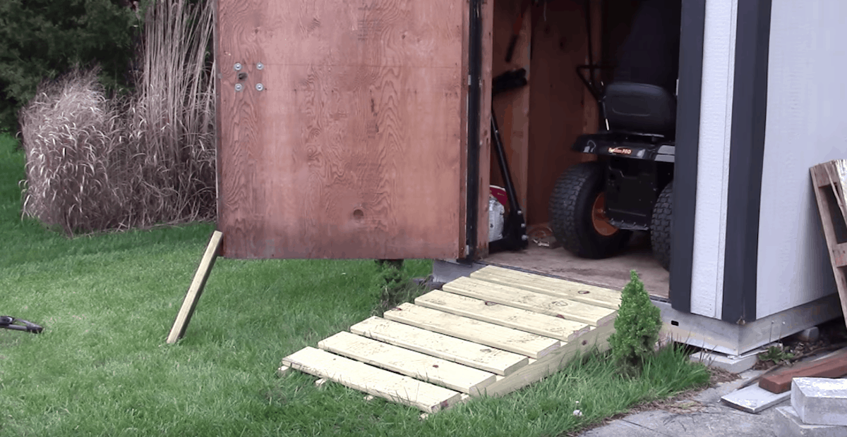 How to Build a Shed Ramp Tutorial in 2020 (With images