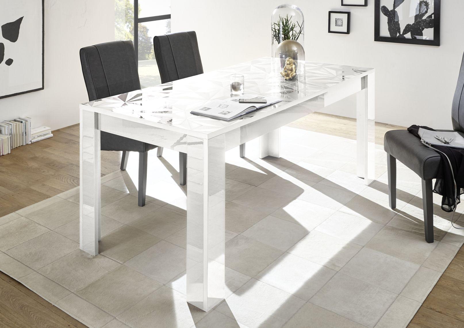 Tavolo Quadrato Allungabile Bianco.Prismo 180 Tavolo Tavoli Da Pranzo Tavolo Da Pranzo Moderno
