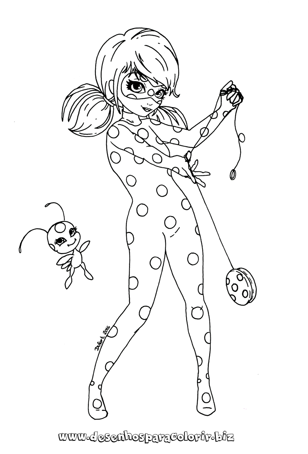 Miraculous ladybug para pintar colorir e imprimir anivers rio coloriage ladybug coloriage - Dessin a colorier ladybug et chat noir ...