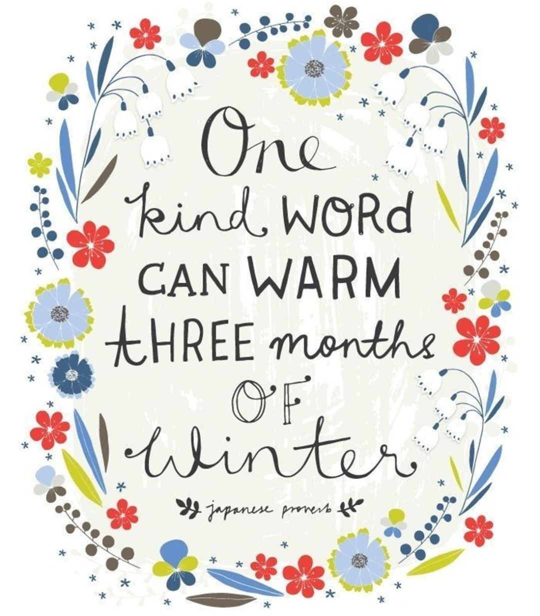 Child Care Quotes Cold Kindness Beautiful Winter Quotes Kids Children Family