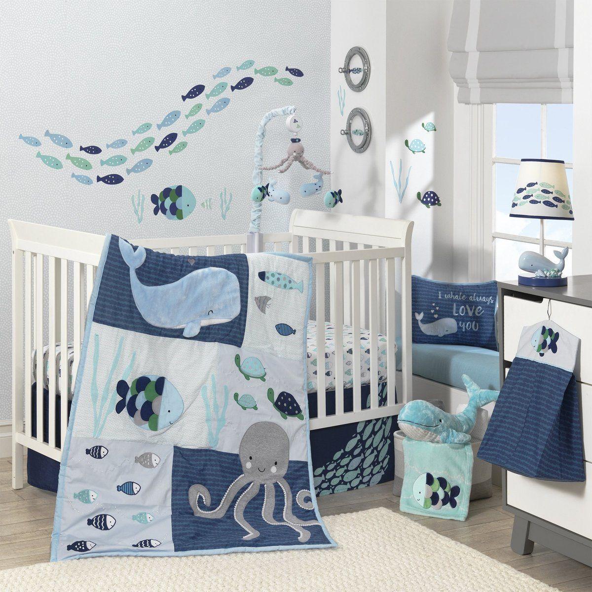 Oceania 6 Piece Crib Bedding Set In 2021 Baby Bedding Sets Baby Crib Bedding Sets Baby Crib Bedding