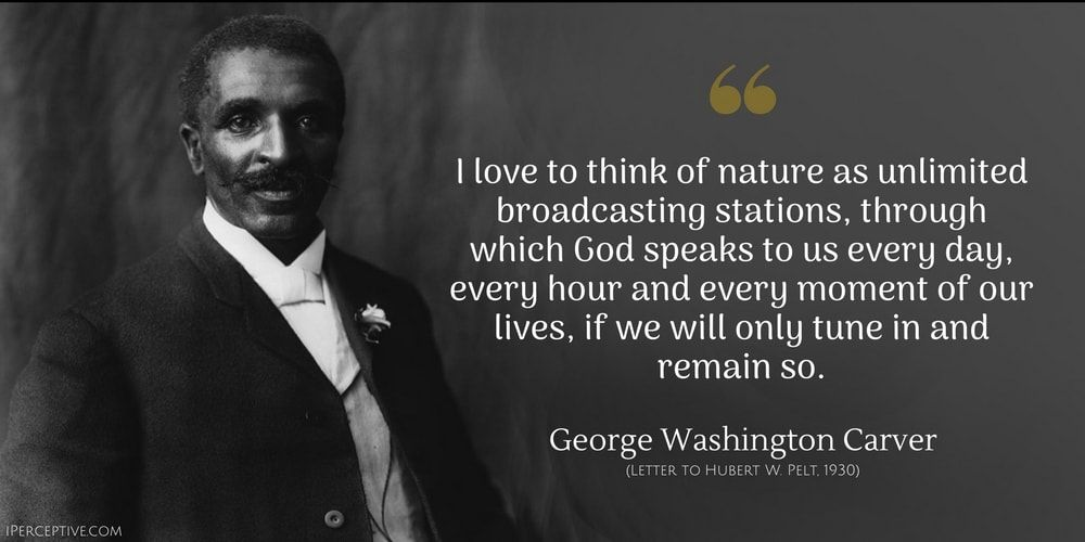 George Washington Carver Quotes George Washington Carver Quote I Love To Think Of Nature As Having .