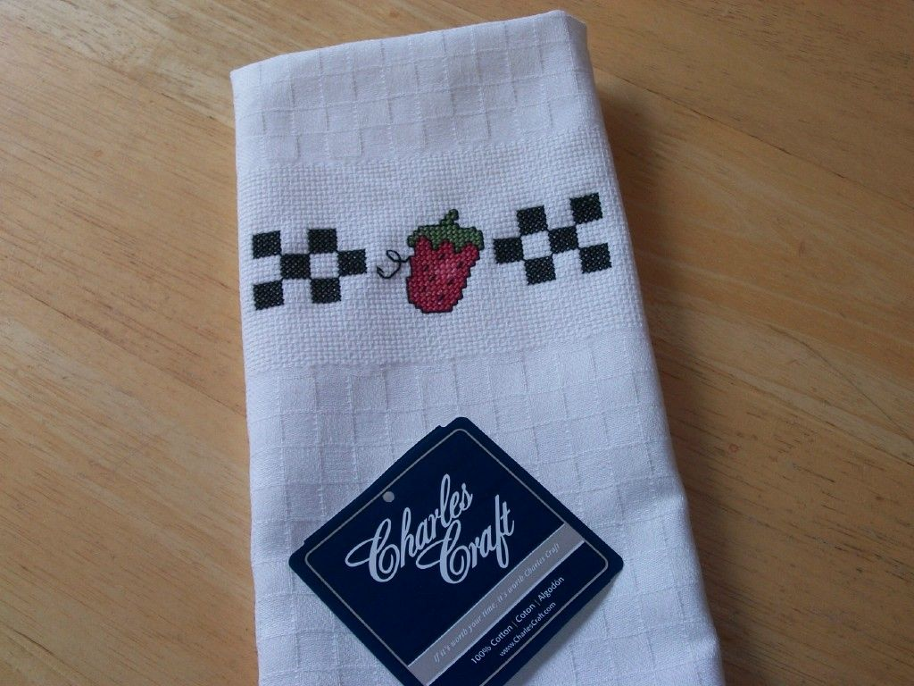 Kitchen Towel Craft Charles Craft Finished Cross Stitch Kitchen Towel Summer