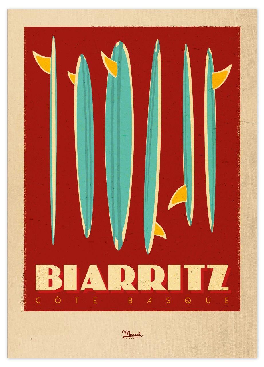biarritz surf art surf painting surf poster pinterest
